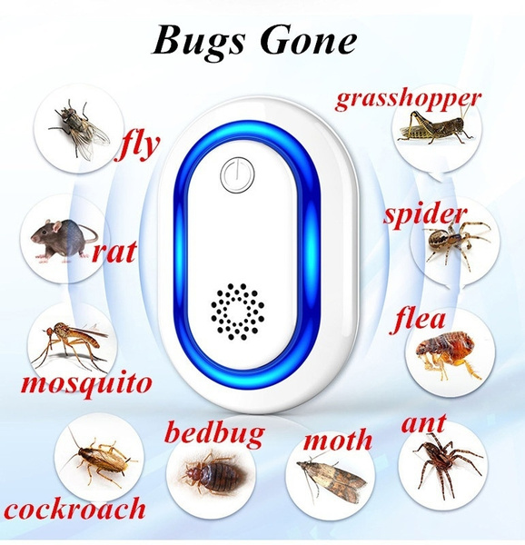 Electronic Ultrasonic Control Mosquito Cockroach Mouse Killer Repeller UK Plug