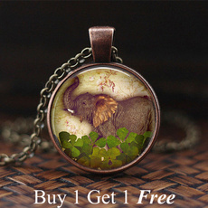 Vintage, luckynecklace, Glass, Best Gift