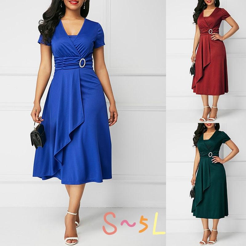 51949f4f53c Details about Plus Size Women Fashion Summer Vogue Sexy Women Mini Dress  Party Evening Dresses