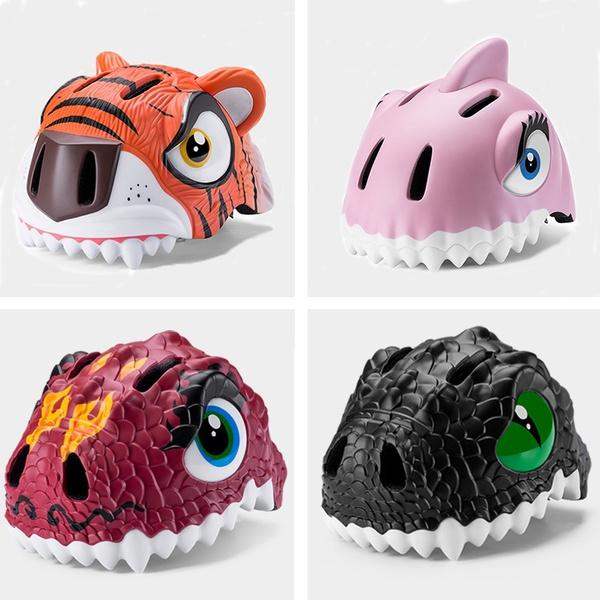 RockBros Kids Cycling Light Helmet Integrally-molded Child Helmet Red Horse