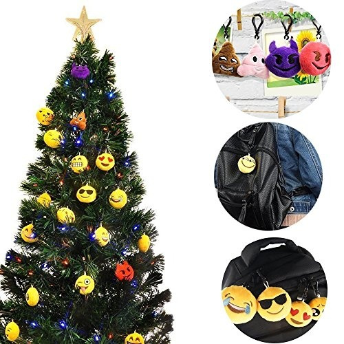 Cyber Monday Deal Kimicare Emoji Keychain Mini Plush Pillows Key