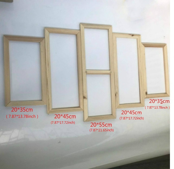 5pcs Set Wooden Inner Frames For Canvas Wall Art Paintings Diamond Frame High Quality Wood Home Decor 5 Panel