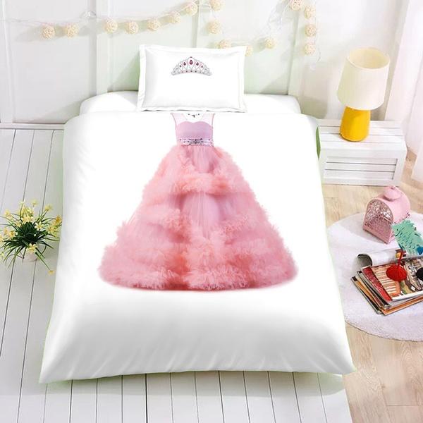 wish 2018 fashion 2 3pc ocamo baby girls princess bed set long
