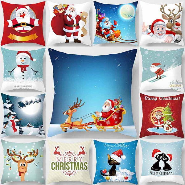 christmaspillowcase, Home Decor, sofacushioncover, Tree