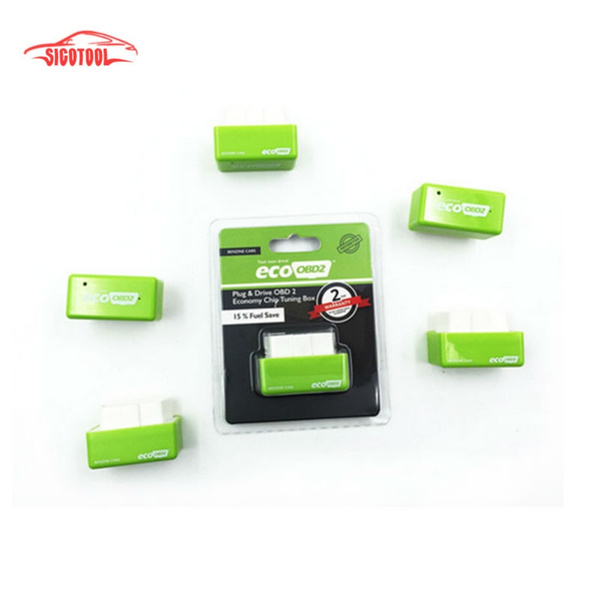 Green EcoOBD2 Economy Chip Tuning Box OBD Car Fuel Saver Eco OBD2 for  Benzine Cars Fuel Saving 15%