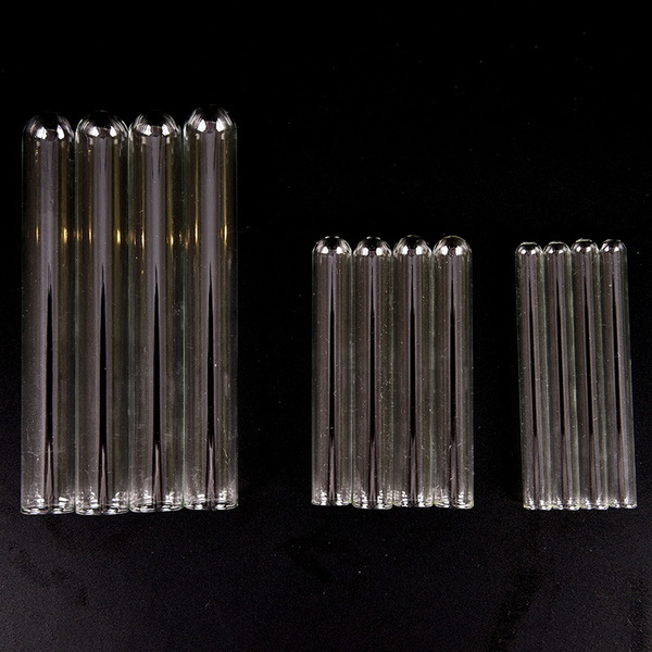 10 Pcs Pyrex Glass Blowing Tubes 4/6/8 Inch Long Thick Wall Test Tube T4P6  Ideal nice