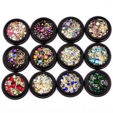 nail decoration, Box, nail stickers, Glitter