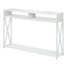 Console, white, living room, endtable