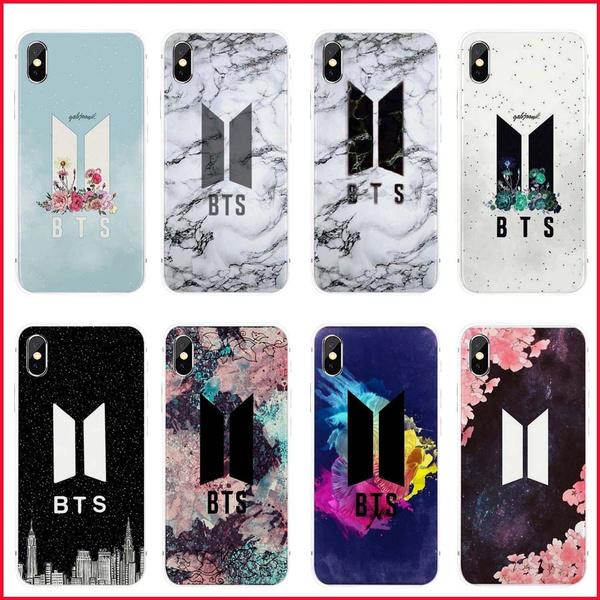 premium selection 7e8a0 18bd1 Korean Fashion K-pop BTS Phone Cases Bangtan Boys Symbol Marble Flower Soft  TPU Back Covers for Apple IPhone X 5 5S SE 6 6S Plus 7 8 Plus