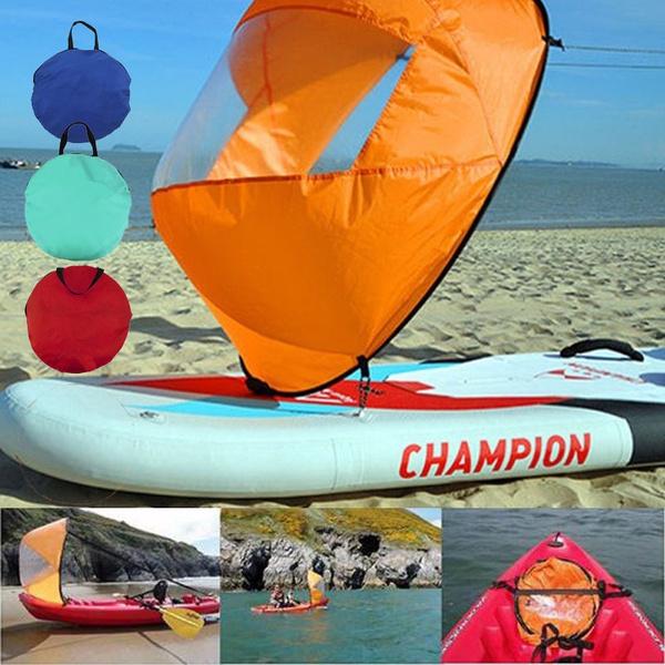 43in Kayak Canoe Downwind Wind Paddle Clear Window Popup Board Wind Sail