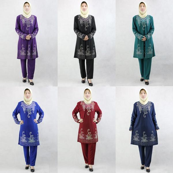 Women Muslim Abaya Islamic Clothing Arab Robes Dress Arabic Dubai Turkey  Kaftan Fashion Ladie Abaya for Woman Dress Clothes Pant Set