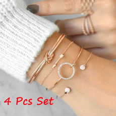 Beautiful, Crystal Bracelet, Arrow, Fashion