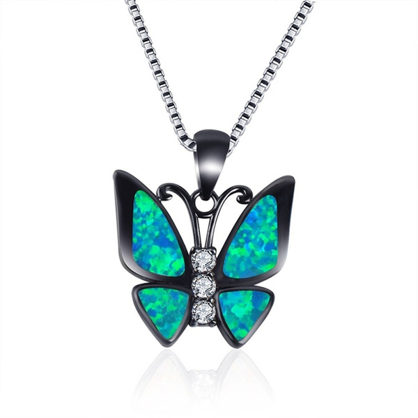 butterfly, Party Necklace, 925 sterling silver, Jewelry