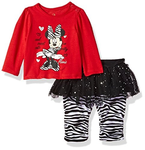 f6c1526b427 Disney Baby-Girls Newborn Minnie Mouse 2 Piece Zebra Print Skegging Set,  Chinese Red, 0-3 Months | Wish