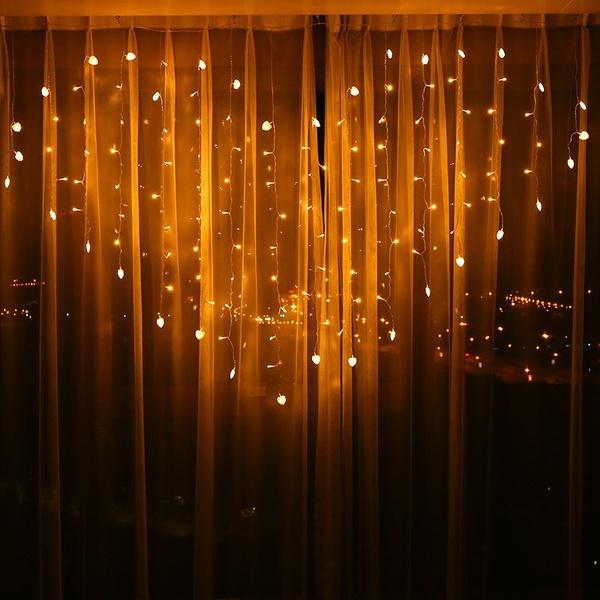 En forme de coeur LED Fée Chaîne Rideau Lumière 2 M * 1.5 M 124 Leds  Valentine Xmas De Noël Noce Guirlande Décor DMG