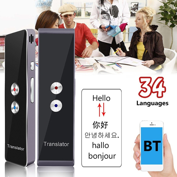 30 Languages Intelligent Translator Pocket Handy Smart Voice Translator  Bluetooth Real Time Translation Languages Translation Device
