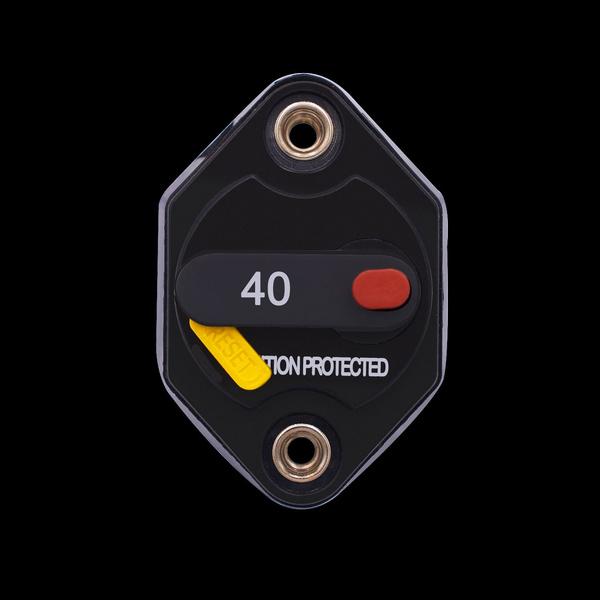 SixDu 20/30/40 Amp Waterproof Circuit Breaker Fuse Inverter with Manual  Reset Button