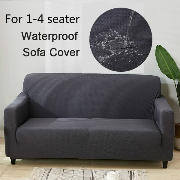 Solid Color Waterproof Sofa Cover Wrap High Quality Slipcovers For Living Room Washable Couch