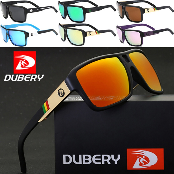 DUBERY Mens Sport Polarized Sunglasses Outdoor Driving Square Goggles Eyewear