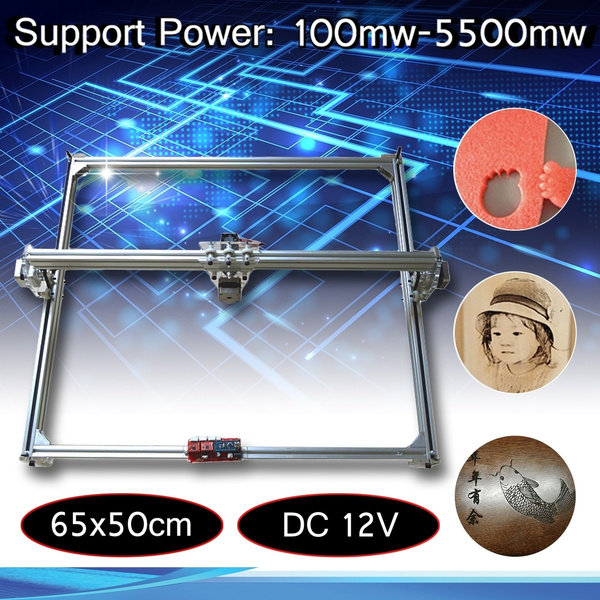 DC 12V 65x50cm Laser Engraving Cutting Marking Printer Engraver Frame Motor  Without Laser Head For DIY Laser Machine Assembly kit