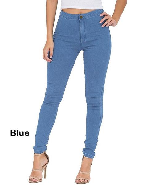 0e97c13f697efe Wish | Women's High Waist Butt-Lifting Skinny Jeans Elastic Pencil ...