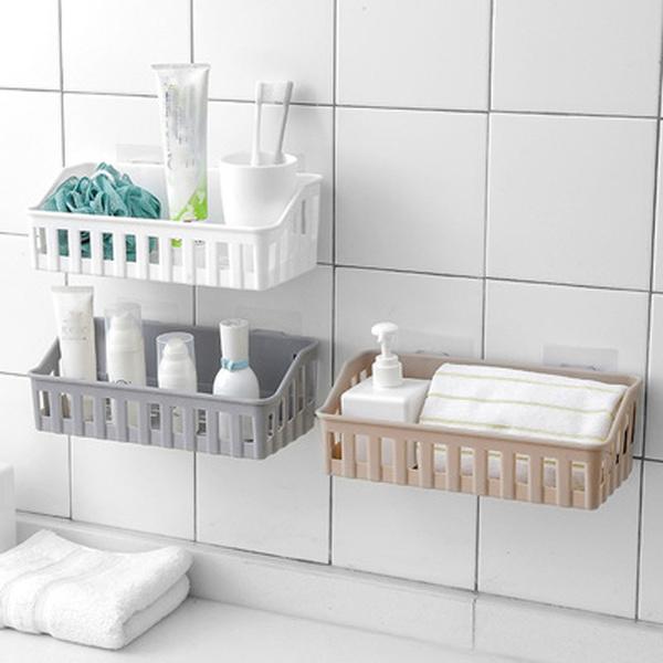 Kitchen Bathroom Wall Storage Shelf Hanging Rack Corner Basket Holder Organizer Cuisine Salle De Bains Mur Etagere De Rangement Suspendu Support De