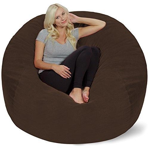 Chill Sack Bean Bag Chair: Giant 5' Memory Foam Furniture Bean Bag - Big  Sofa with Soft Micro Fiber Cover - Brown Pebble
