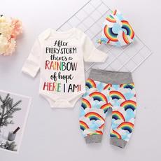 Baby, rainbow, Baby Girl, babyromper