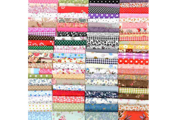 100pcs New 10*10cm DIY Craft Sewing Square Floral Cotton Fabric Patchwork Cloth