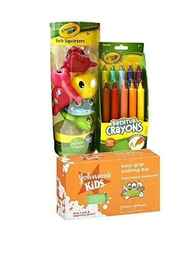 wish crayola bath time fun bundle includes bathtub crayons bath squirters and johnsons kids easy grip sudzing bar - Crayola Bathroom Crayons