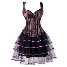 Mini, Goth, bustier dress, Lace