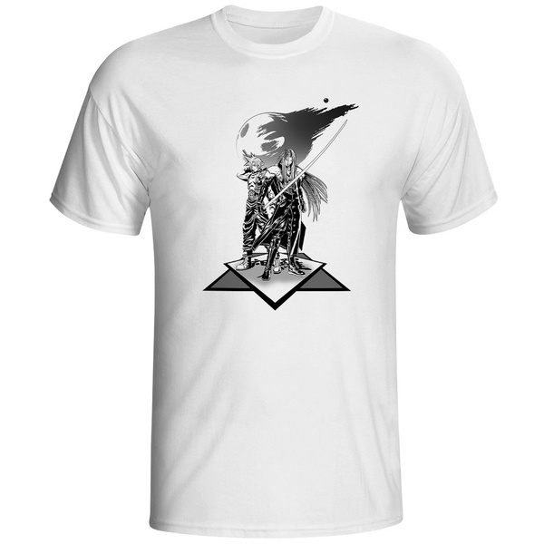Cloud Strife Vs Sephiroth T Shirt Design Funny Video Game Final Fantasy T Shirt Tee Cool Fashion Novelty Style Creative Tshirt
