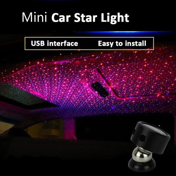 Mini LED Projector Light Car Roof Star Night Lights Ambient Atmosphere  Galaxy Lamp for Car Interior Decoration