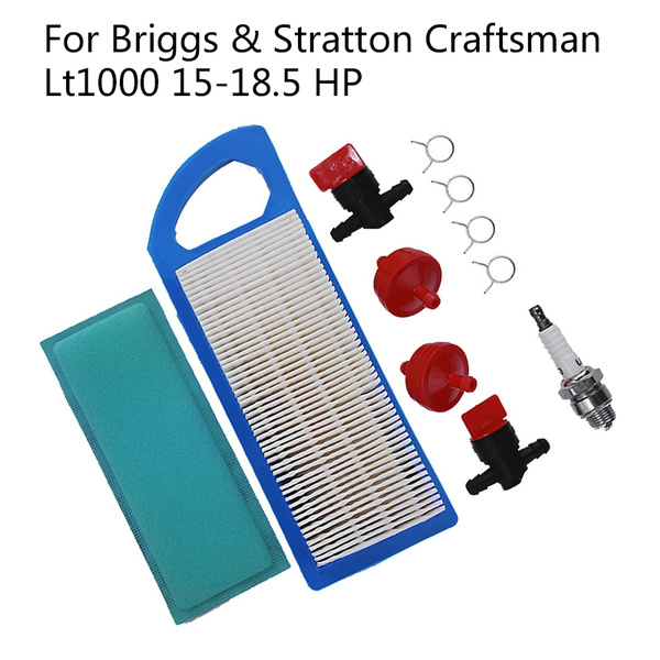 Air Filter Tune Up Kit For Briggs & Stratton Craftsman Lt1000 Intek 15-18 5  HP