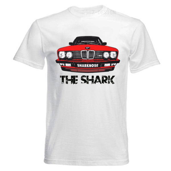 günstige Preise am besten online viele modisch LEFEDA Classic Retro BMW E28 M5 M Power The Shark Car Graphic Tee Shirt  Mens Shirt Cotton Shirt Casual T Shirt,White S-XXXL