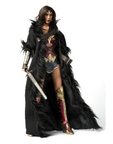 Wish | VSTOYS 1/6 Black Wonder Woman Cloak Long Coat For 12