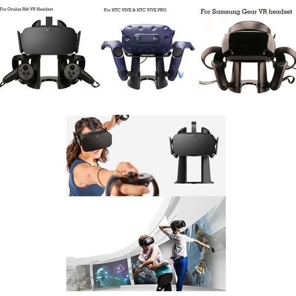 Holder for Oculus Rift for Samsung Gear VR for HTC VIVE / Pro Headset and  Controllers Bracket Accessories Newest Virtual Reality 3D Glass Headset