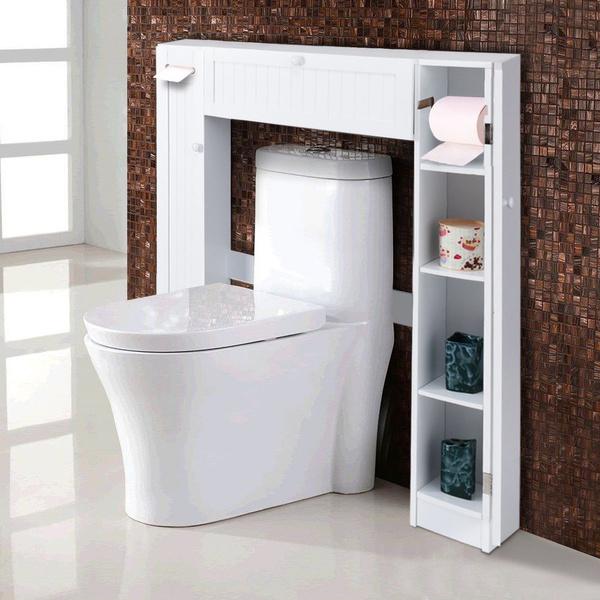 WC Toilette Schrank Überbauschrank Badezimmerregal Badschrank Badregal  Badmöbel