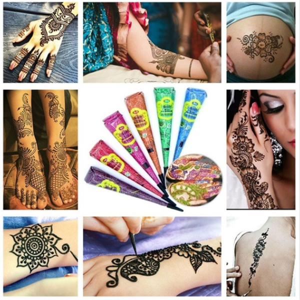 Diy Drawing Body Art Cosmetic Henna Painted For Party Wedding Tattoo Removal Cream Body Tattoo Art Temporary Tattoo Kit