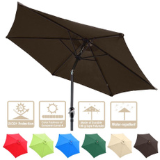 8ftpatioumbrellatilt, patioumbrelladarkcoffee, Outdoor, Aluminum