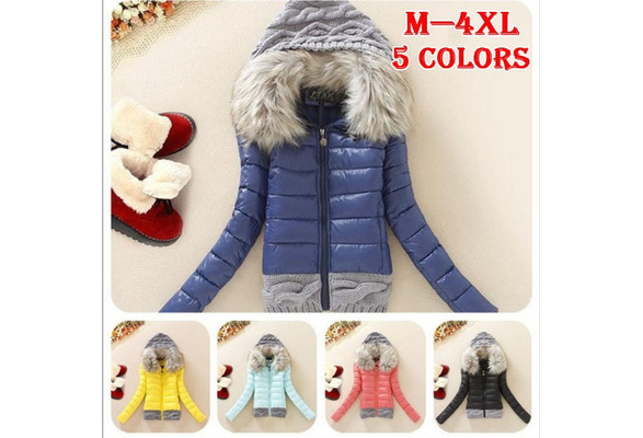 New Cotton Padded Clothes Warm Coat Woman Down Cotton Coat Collars Self-cultivation Cotton Fashion Coat