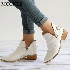 ankle boots, Plus Size, Winter, Heels