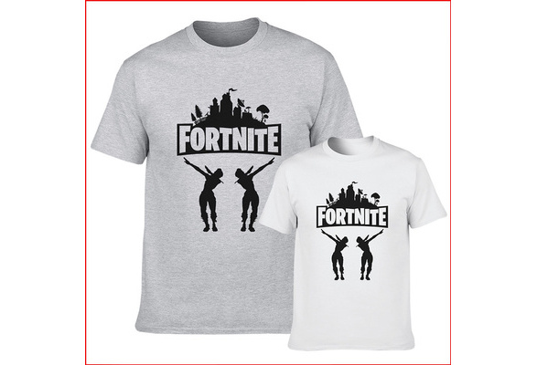 New Fashion Men's Summer Casual Top Shirts Fortnite Letter Printed Short Sleeve O Neck Loose Cotton T Shirts