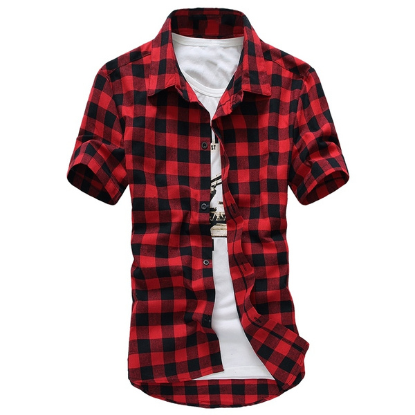 plaid shirt, Summer, Fashion, Shirt