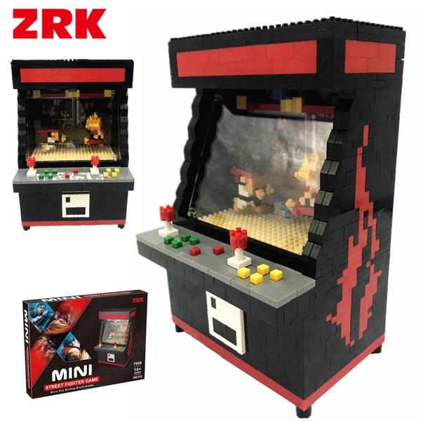 Zrk Arcade Street Fighter Game Machine Diy Diamond Mini Building