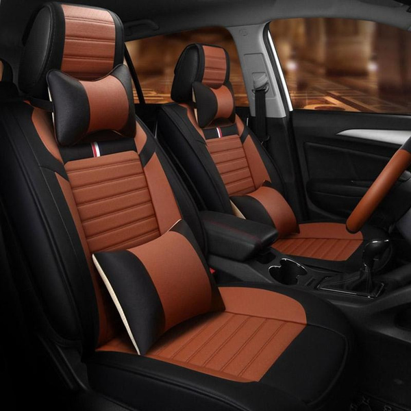 Wish Luxury Leather Car Seat Cover Universal Seat Covers For