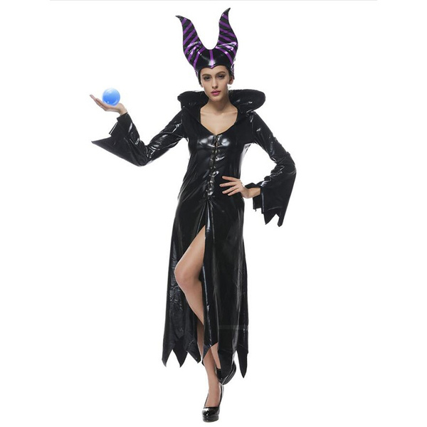 Maleficent Costume Pu Movie Maleficent Cosplay Costumes Adlut Sexy Halloween Costumes For Women Party Fancy Dress