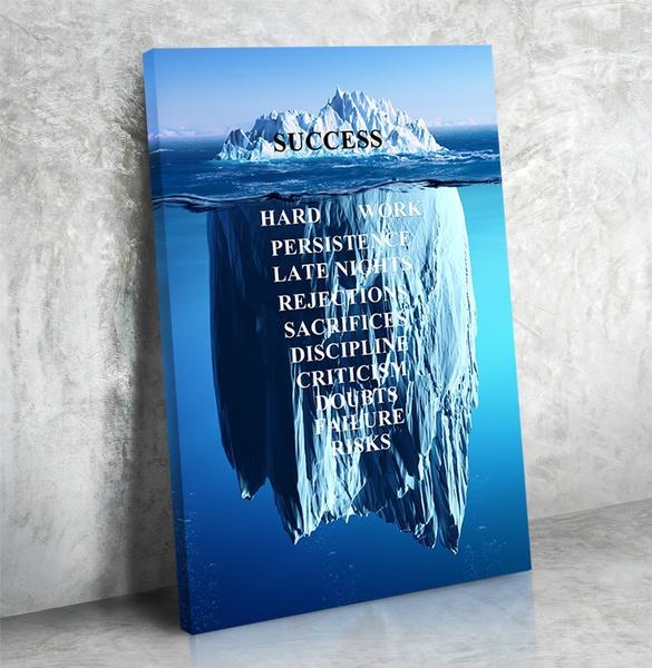 Success Iceberg   canvas wall art print