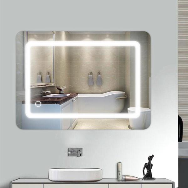 Badspiegel Beleuchtet Led.Led Badspiegel 70 50 Lichtspiegel Wandspiegel Beleuchtet Mit 1m Netzkabel 9w De Fr