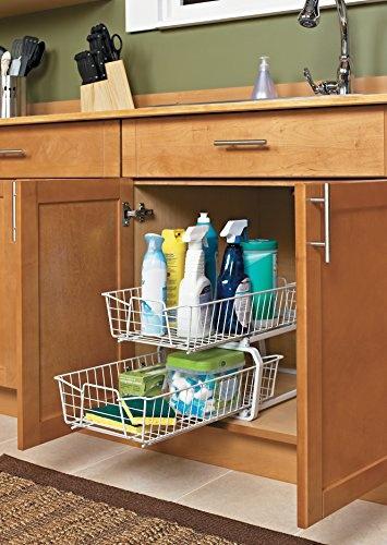 Wish Closetmaid 3608 2 Tier 11 Inch Kitchen Cabinet Organizer White